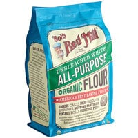 Bob's Red Mill 5 lb. Organic Unbleached All-Purpose Flour - 4/Case