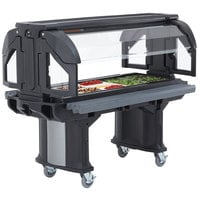 Cambro VBRHD5110 Black 5' Versa Food / Salad Bar with Heavy-Duty Casters