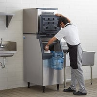 Scotsman C0322SA-1 Prodigy Series 22 inch Air Cooled Small Cube Ice Machine with 370 lb. Storage Bin - 356 lb.