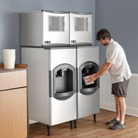 Scotsman C0522MA-1 Prodigy Series 22 inch Air Cooled Medium Cube Ice Machine with 120 lb. Dispenser - 475 lb.