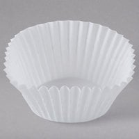 White Fluted Baking Cup 2 inch x 1 3/8 inch   - 10000/Case