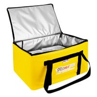 Sterno 72038 SpeedHeat™ Yellow Leak-Proof Insulated Food Pan Carrier / Catering Delivery Bag, 16 inch x 24 inch x 14 inch- Holds (6) Half Size Food Pans