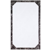 8 1/2 inch x 14 inch Black Menu Paper - Angled Marble Border - 100/Pack
