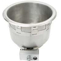 APW Wyott CH-11D 11 Qt. Round Drop In Soup Well with Immersible Element and Drain