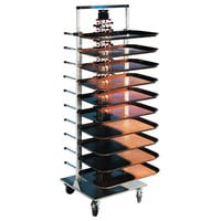 Plate Mate PM84-120 Mobile Plate Rack Holds 84 Plates 73 1/2 inchH