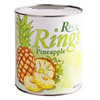Regal #10 Can Sliced Pineapple Rings in Natural Juice - 6/Case