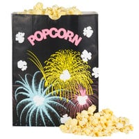 Bagcraft Packaging 300450 7 1/2 inch x 3 1/2 inch x 9 inch 130 oz. Funburst Design Popcorn Bag - 500/Case