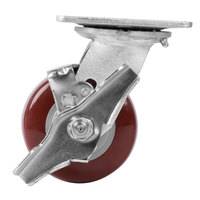 4 inch Swivel Plate Caster with Brake