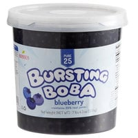 Bossen 7.26 lb. Pure25 Blueberry Bursting Boba - 4/Case
