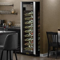 AvaValley W-4GD-15 Single Section 81-Bottle Glass-Sided Wine Merchandiser