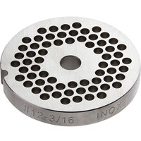Avantco MG1245 #12 Stainless Steel Grinder Plate for MG12 Meat Grinder - 3/16 inch
