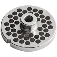 Backyard Pro Butcher Series BSG126PH #12 Stainless Steel Hub Grinder Plate for BSG12 Meat Grinder - 1/4 inch