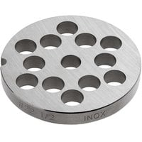 Backyard Pro Butcher Series BSG2212P #22 Stainless Steel Flat Grinder Plate for BSG22 Meat Grinder - 1/2 inch