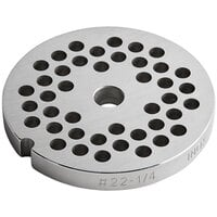 Backyard Pro Butcher Series BSG226P #22 Stainless Steel Flat Grinder Plate for BSG22 Meat Grinder - 1/4 inch