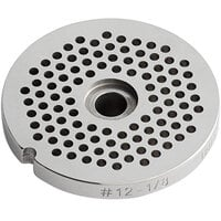 Backyard Pro Butcher Series BSG123PH #12 Stainless Steel Hub Grinder Plate for BSG12 Meat Grinder - 1/8 inch