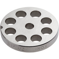 Backyard Pro Butcher Series BSG1212P #12 Stainless Steel Flat Grinder Plate for BSG12 Meat Grinder - 1/2 inch