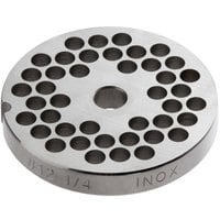 Backyard Pro Butcher Series BSG126P #12 Stainless Steel Flat Grinder Plate for BSG12 Meat Grinder - 1/4 inch