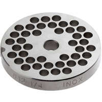 Avantco MG1241 #12 Stainless Steel Grinder Plate for MG12 Meat Grinder - 1/4 inch