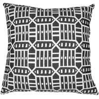 Astella TP24-FA54 Pacifica Roland Charcoal Lounge Throw Pillow