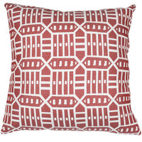 Astella TP24-FA55 Pacifica Roland Red Lounge Throw Pillow