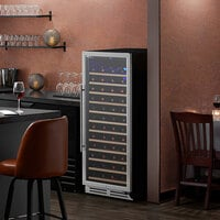 AvaValley WRC-128-SZ Single Section Single Temperature Full Glass Door Wine Refrigerator
