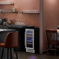 AvaValley WRC-32-DZ Single Section Dual Temperature Full Glass Door Wine Refrigerator
