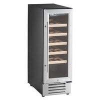 AvaValley WRC-20-SZ Single Section Single Temperature Full Glass Door Wine Refrigerator