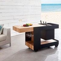 Astella INDU-BAR ISLE Outdoor Mobile Bar / Side Table