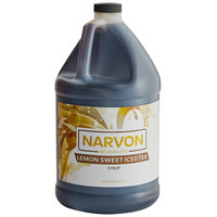 Narvon 1 Gallon Lemon Sweet Iced Tea Beverage Concentrate