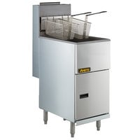 Anets 35AS Silver Economy Series Liquid Propane 35-40 lb. Tube Fired Fryer - 90,000 BTU