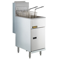 Anets 40AS Silver Economy Series Liquid Propane 40-45 lb. Tube Fired Fryer - 107,000 BTU