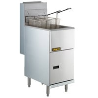 Anets 45AS Silver Economy Series Liquid Propane 40-45 lb. Tube Fired Fryer - 122,000 BTU