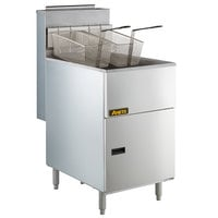 Anets 70AS Silver Economy Series Liquid Propane 65-80 lb. Tube Fired Fryer - 150,000 BTU