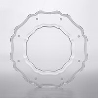 The Jay Companies 1470451 13 inch Mariloo Clear Glass Scalloped Charger Plate