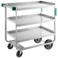 Regency 22 inch x 39 inch Three Shelf 18-Gauge Stainless Steel U-Channel Cart - Fully Welded