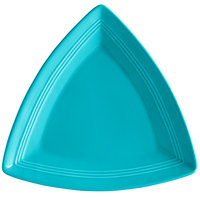 Tuxton CIZ-1248 Concentrix 12 1/2 inch Island Blue Triangle China Plate - 6/Case
