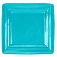 Tuxton CIH-0845 Concentrix 8 1/2 inch Island Blue Square China Plate - 12/Case