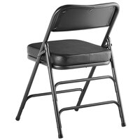 Lancaster Table & Seating Black Vinyl Folding Chair with 2 inch Padded Seat