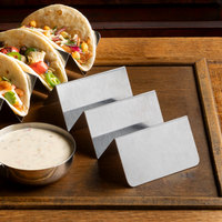 Vollrath 59788 8 1/2 inch x 4 inch x 2 inch Stainless Steel Taco Holder with 2 or 3 Compartments