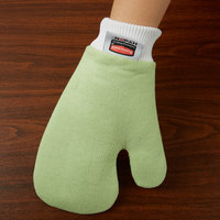 Rubbermaid FGQ65000GR00 HYGEN Green All Purpose Microfiber Mitt with Thumb