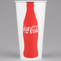 Solo RNP21C-K1038 Coke® 21 oz. Poly Paper Cold Cup - 1000/Case