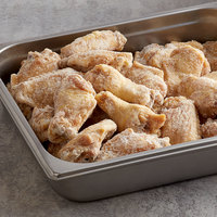 Brakebush 6 lb. Bag Fully Cooked Unbreaded Jumbo Chicken Wingettes - 2/Case