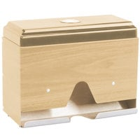 Vollrath 3815-29 Straw Boss Single Sided Wrapped Straw Dispenser - Light Oak Woodgrain