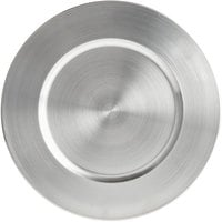 World Tableware CPB-13 13 inch Brushed Finish Stainless Steel Charger Plate