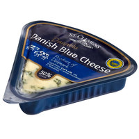 St. Clemens 4.4 oz. PGI Danish Blue Cheese Wedge - 18/Case