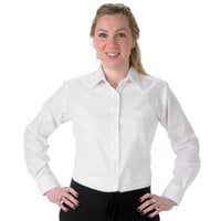Henry Segal Women's Customizable White Long Sleeve Dress Shirt - 10