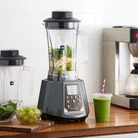 Avamix BL2TE 2 hp Commercial Blender with Digital Touchpad Controls, Timer, and Two 64 oz. Polycarbonate Containers