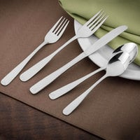 Walco 8406 Olde Towne 6 15/16 inch 18/0 Stainless Steel Medium Weight Salad Fork - 24/Case