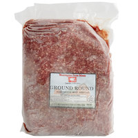 Warrington Farm Meats 5 lb. Frozen Ground Round Beef 90% Lean 10% Fat