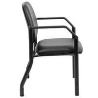 Boss B9591AM-BK Black Antimicrobial Guest Chair with Arms